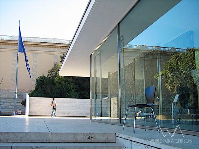 Barcelona Pavilion, entrance © Cristina Wong