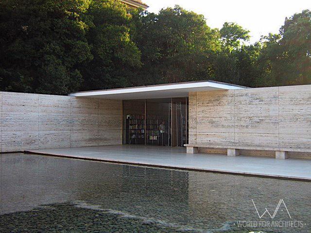 Barcelona Pavilion, library © Cristina Wong